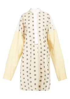 Loewe Anagram-embroidered cotton-poplin shirtdress