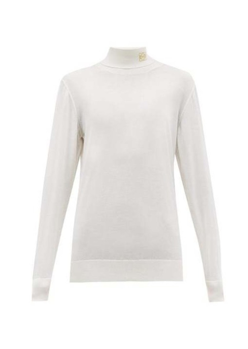 Loewe Anagram-embroidered roll-neck cashmere sweater