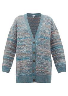 Loewe Anagram-embroidered wool cardigan