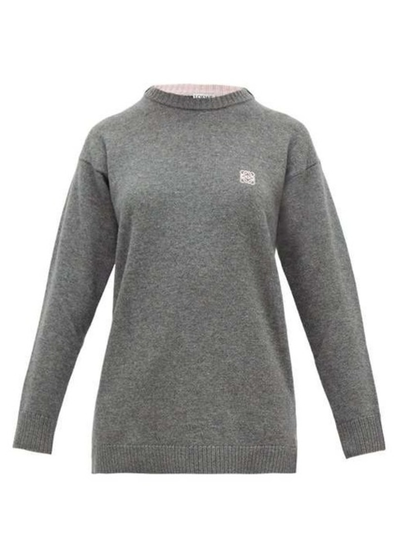 Loewe Anagram-embroidered wool sweater