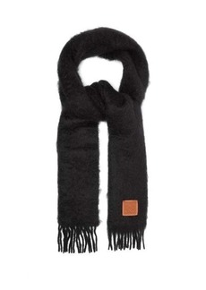 Loewe Anagram logo-patch mohair-blend scarf