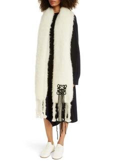 Loewe Anagram Mohair & Wool Scarf