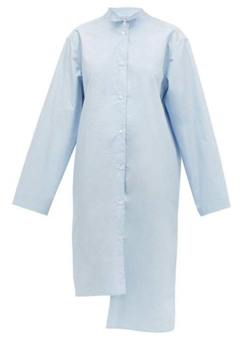 Loewe Asymmetric oversized cotton shirt