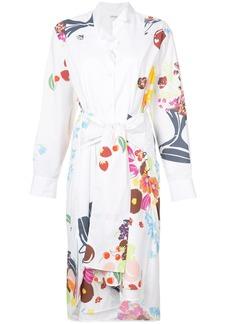 Loewe asymmetric shirt dress - White