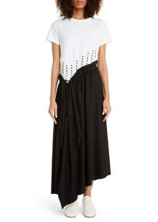 Loewe Asymmetrical Jersey Midi Dress