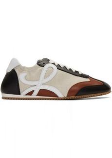 Loewe Beige & Navy Ballet Runner Sneakers
