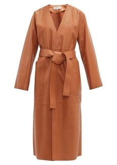 Loewe Belted leather coat