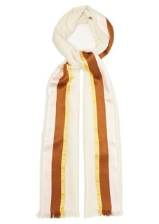Loewe Bordered silk-blend scarf