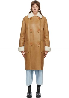 Loewe Brown Shearling Oversized Coat