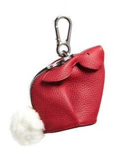 Loewe Bunny Bag Charm with Genuine Shearling