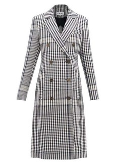 Loewe Checked tailored linen coat
