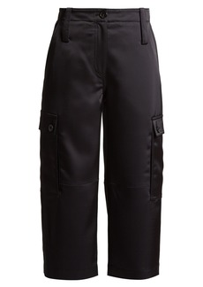 Loewe Cropped satin cargo trousers