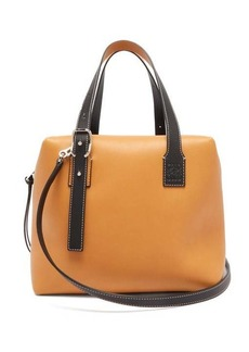 Loewe Cube colour-block leather handbag