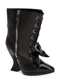 Loewe Curved Heel Bow Bootie (Women)