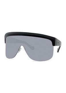 Loewe Curved Shield Semi-Rimless Sunglasses