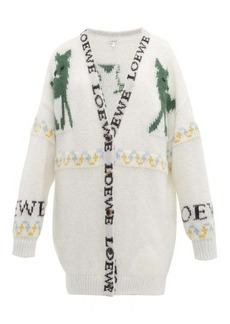Loewe Deer-jacquard mohair-blend cardigan