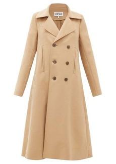 Loewe Double-breasted wool-blend swing coat