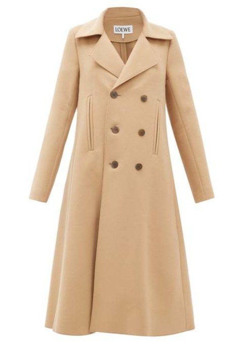 Loewe Double-breasted wool-blend swing coat