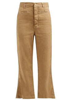Loewe Fisherman linen and cotton-blend canvas trousers