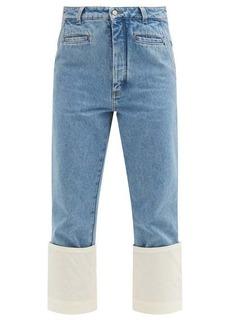 Loewe Fisherman turn-up cropped-leg jeans