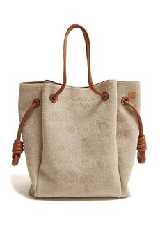 Loewe Flamenco canvas tote bag