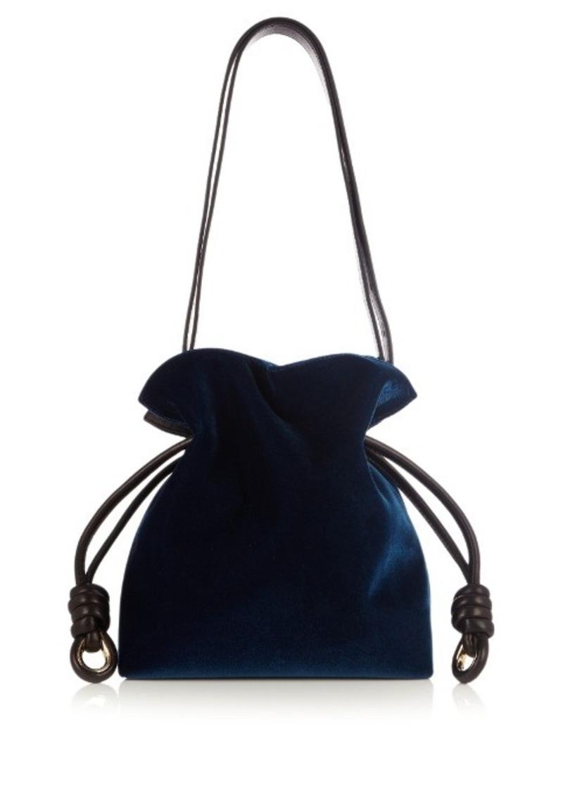 2932cb57f778 Loewe Loewe Flamenco Knot small velvet bag