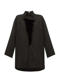 Loewe Flocked-patch crinkle blouse