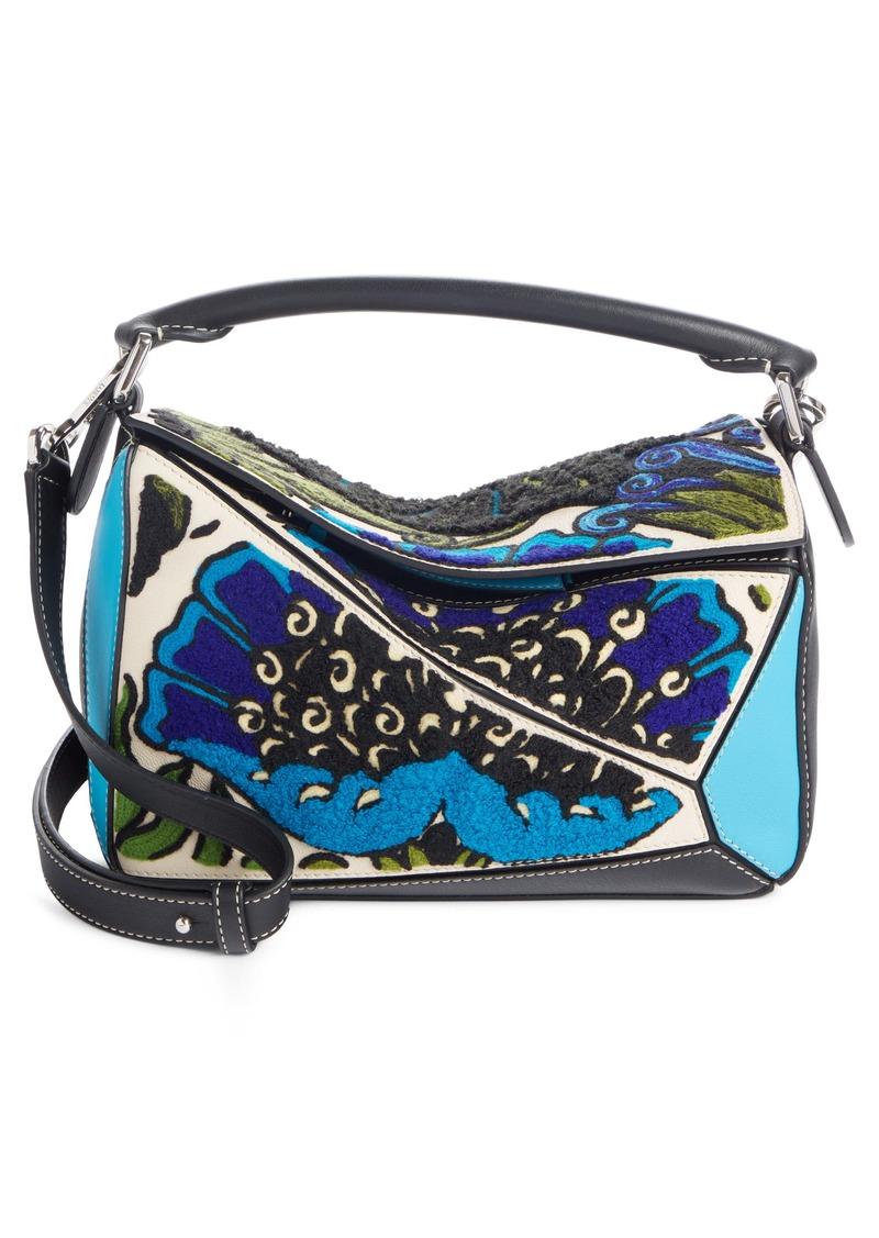 Loewe Floral Mini Puzzle Leather Bag
