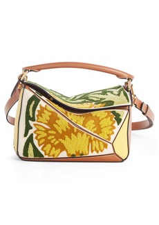 Loewe Floral Puzzle Leather Bag