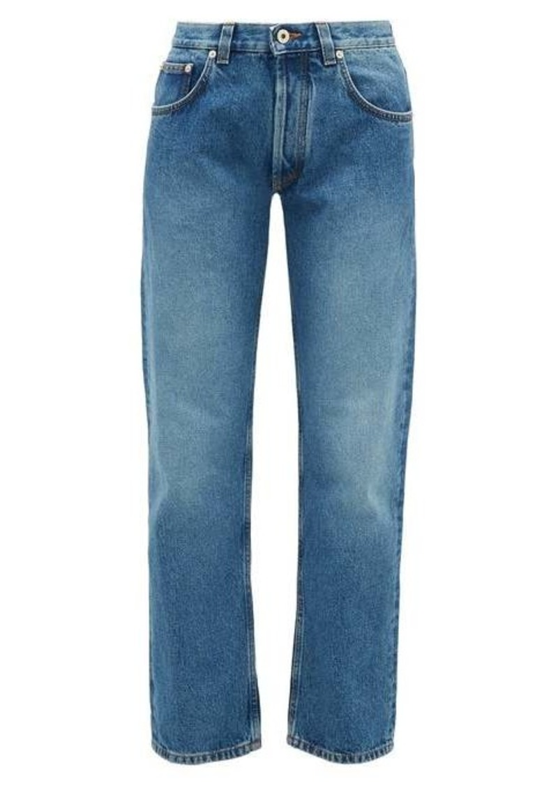 Loewe Flower-embroidered straight-leg jeans