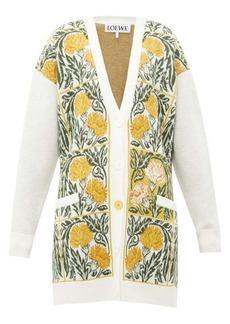 Loewe Flower-jacquard wool-blend cardigan