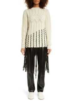 Loewe Fringe Wool Blend Sweater