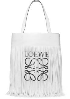 Loewe Fringed printed leather tote