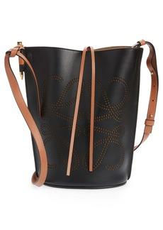 Loewe Gate Anagram Colorblock Leather Bucket Bag