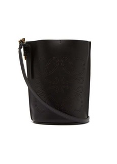 Loewe Gate Anagram-perforated leather bucket bag