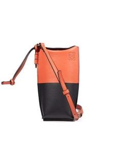 Loewe Gate mini bi-colour leather necklace pouch