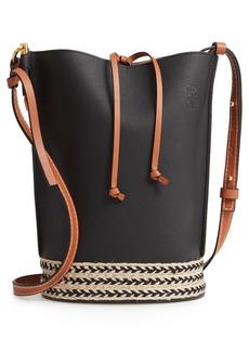 Loewe Gate Espadrillas Leather Bucket Bag