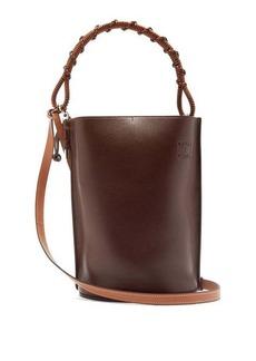 Loewe Gate grained-leather bucket bag