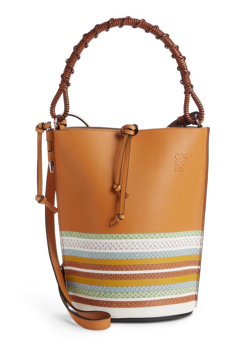 Loewe Gate marine Leather Bucket Bag