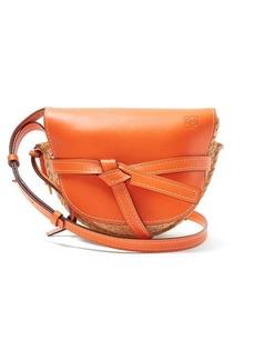 Loewe Gate small leather and raffia cross-body bag