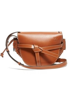 Loewe Gate small woven-leather cross-body bag