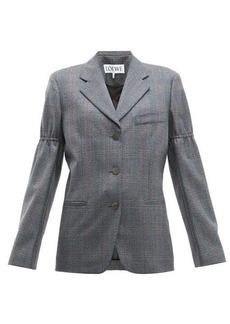 Loewe Gathered-sleeve single-breasted wool blazer