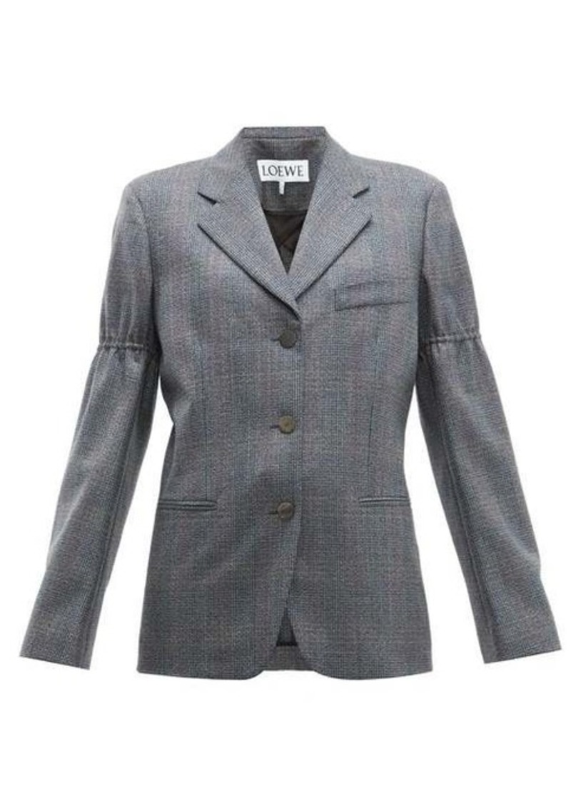 Loewe Gathered-sleeve single-breasted wool blazer