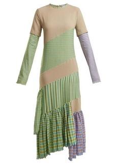 Loewe Gingham panel round-neck dress