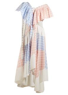 Loewe Gingham patchwork cotton dress