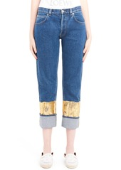 Loewe Gold Cuff Fisherman Jeans