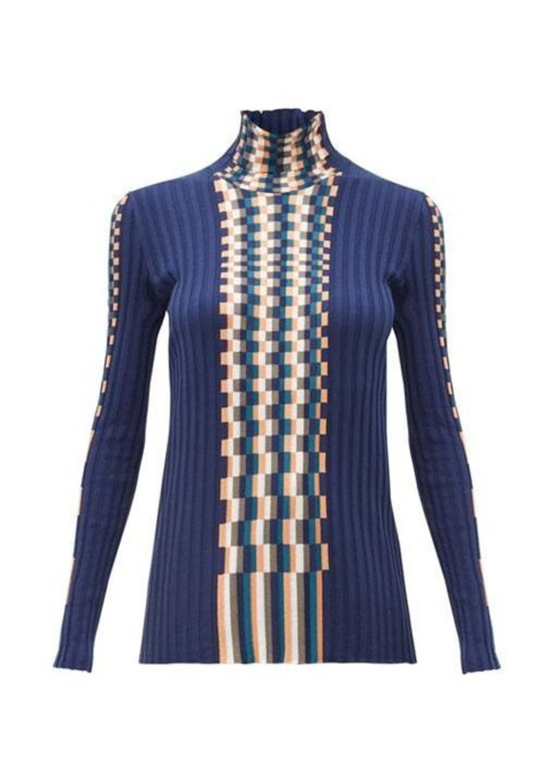 Loewe Graphic jacquard-knit cotton sweater