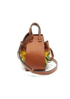 Loewe Hammock mini floral-embroidered leather bag