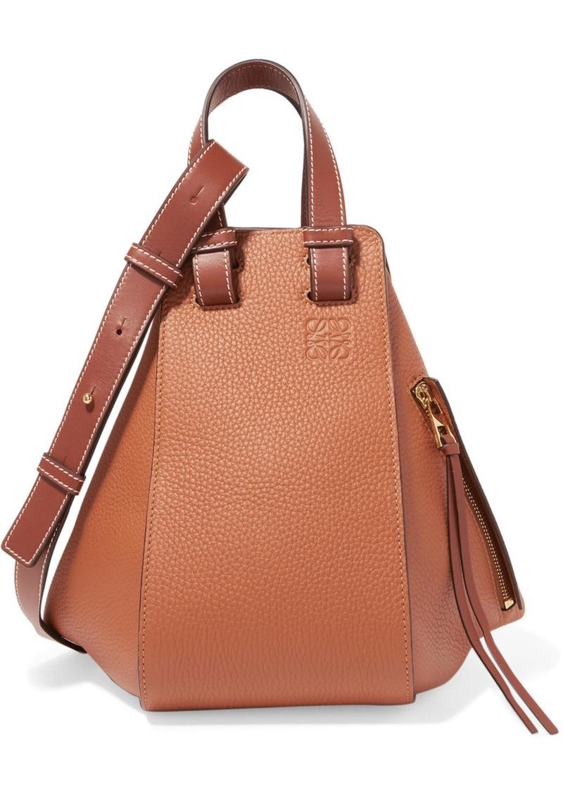 Loewe Hammock Small Textured Leather Shoulder Bag