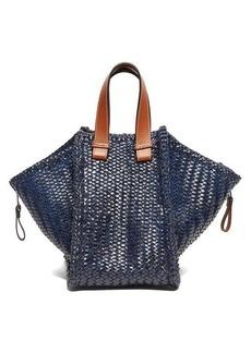 Loewe Hammock small woven-leather tote bag